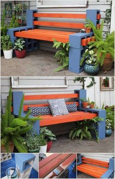 DIY Cinder Block Bench Home Design Garden . DIY Garden Benches And Tables Made With Cinder Blocks. Original Cinder Block Ideas For DIY Yard Decorations. Home and Family