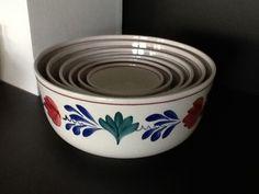 Oud Boerenbont SC 483a Set Nestschalen compleet 6 stuks | Boerenbont Societe Ceramique 483a | Webwinkel Servies Merij