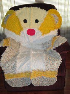 Animal Rag Bear quilt. $135.00, via Etsy.