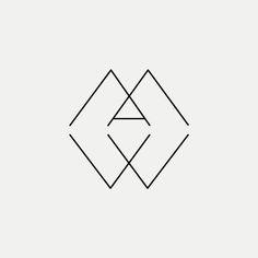 AMW Contemporary monogram by British freelance logo designer Richard Baird - richardbaird.com