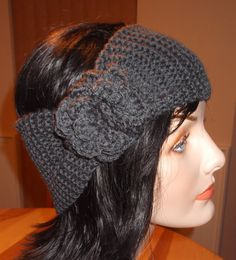 Wide Flower Headband Women's Knitted Accessories by Hookedonyarnct