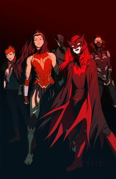 DC Heroines Superteam by Kris Anka. This would be a fantastic addition to the New 52. Birds of Prey taken to 11!