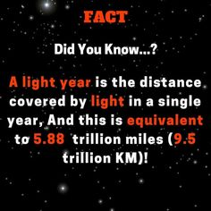 luxury cars - Fact DidYouKnow Alight year is the distance covered by light in a single year, And this is equivalent to 5 88 trillion miles 5 trillion KM) Space Science LightYear SpaceFacts light Astro Astronomia Astronomy education educational interest Random Science Facts, Amazing Science Facts, Science Guy, Earth And Space Science, Earth From Space, Science Education, Random Facts, Amazing Facts, Astronomy Facts