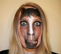 horse makeup by psychosandra
