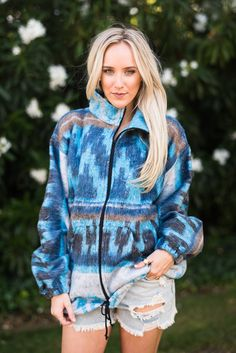 Santa Fe Zip Blanket Jacket by Three Bird Nest | Bohemian Clothing