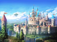 Mobile Game Castle by mrainbowwj deviantart com on @DeviantArt Fantasy landscape Fantasy castle Fantasy city