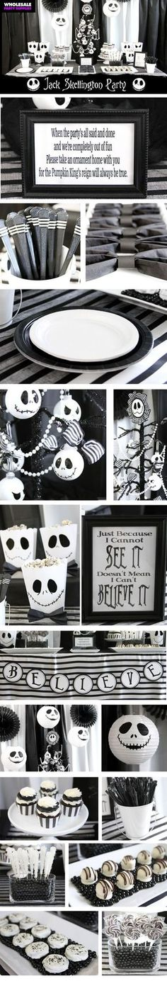 Plan the perfect Halloween party inspired by Tim Burton's Nightmare Before Christmas!
