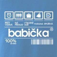 Čárový kód babička - Pure dámské triko | MyShirt.cz