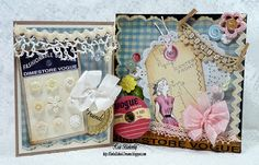 altered sewing canvas and card