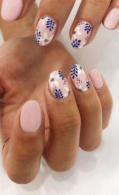 Colorful Nail Designs, Nail Art Designs, Nail Designs Spring, Nail Art Flowers Designs, Shellac Nail Designs, Gorgeous Nails, Pretty Nails, Short Nails Art, Nail Design For Short Nails