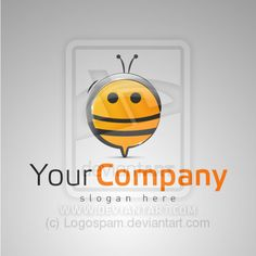 Template for Bee Logo by ~Logospam on deviantART