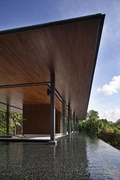 Architektur in Kombination mit dem Element Wasser