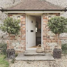 Our inglenook.on the property details for the house it said it was 'hidden'. See my stories for before & after including the discovery of… Cottage Windows, Cottage Porch, Cottage Exterior, Cottage Homes, English Farmhouse, Farmhouse Style, Cottage Farmhouse, House Front Porch, Stone Cottages