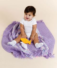 """Free pattern for """"Baby Playtime Blanket""""!"""