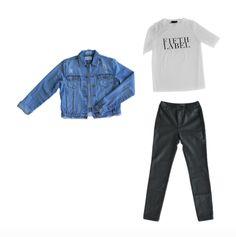 jean jacket   graphic tee   leather pants   winter capsule