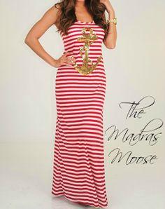 Sequin Anchor Maxi Dress
