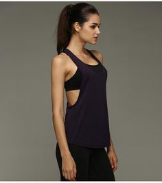 Women Sports Shirt Sleeveless Vest Breathable Sports Jersey Cool Loose Yoga Tops Fitness Running T Shirts Women Fitness Top