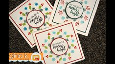 Home For The Holidays - Circle Pattern Stamping