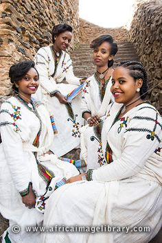 Photos and pictures of: Girls dressed for Timkat celebrations, Ethiopia - The Africa Image Library Ethiopia, Celebrations, Africa, Photos, Pictures, Girls Dresses, Beautiful Women, Hairstyles, Woman