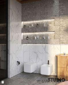 połączenie marmuru drewna i betonu w nowoczesnej łazience - zdjęcie od MIKOŁAJSKAstudio - Łazienka - Styl Nowoczesny - MIKOŁAJSKAstudio