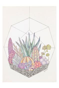 Monki Poster #illustration #cactus Toile et tableaux - La touche d'Agathe - wall art frame murs décors