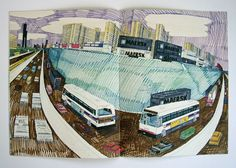 The wonderful work of Wesley Willis. Unfortunately no longer with us, passed away in 2003. He used to come around my bar back when I was in Chicago. Always a crazy rocket-fueled joy.
