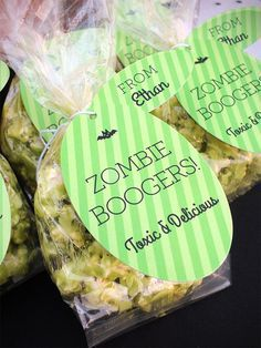 Toxic Zombie Boogers - A Classroom Treat for Halloween | Evermine Occasions | www.evermine.com