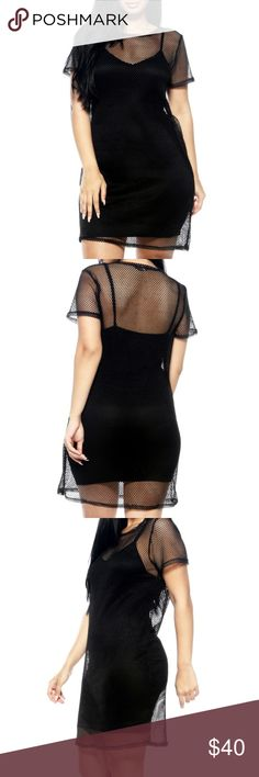 Fishnet Dress With Lining Be the catch of the day in this Fishnet Dress With Lining 🎣 Dresses