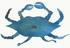 Uncooked Crab Metal Wall Hanging