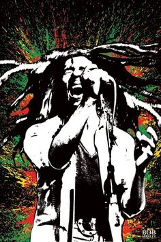 Bob Marley Paint Splash Poster Print: Incredible Poster of the man who is synonymous with reggae music and the Rastafarian movement. The Lion of Zion and Buffalo Soldier, Bob Marley. Bob Marley Kunst, Bob Marley Art, Bob Marley Painting, Frases Reggae, Reggae Art, Reggae Music, Rasta Art, Damian Marley, Niklas