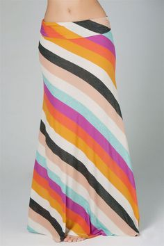 How sssssexy is this Alternative Apparel Long Skirt? Fashion Idol, Love Fashion, Fashion Outfits, Alternative Outfits, Alternative Apparel, What Should I Wear Today, Chic Fashionista, Striped Maxi Skirts, Casual Skirts