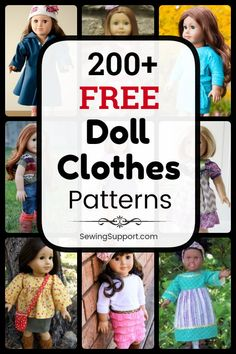 Free Doll Clothes Patterns - Doll Clothes Patterns for American Girl 18 inch dolls. free patterns, tutorials, and d - Sewing Doll Clothes, American Doll Clothes, Crochet Doll Clothes, Sewing Dolls, Baby Clothes Patterns, Doll Dress Patterns, Clothing Patterns, Sewing Patterns, Doll Patterns Free