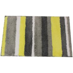 Yellow Gray Bathroom Rugs