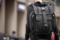 Weatherproof bags built take a beating in any configuration: Advanced Projects label.