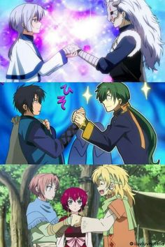This is sooo kwute and kawaii! Hiiro No Kakera, Akagami No Shirayukihime, Manga Anime, Anime Demon, Anime Akatsuki, Akatsuki No Yona, Boku No Pico, Anime Love, Anime Guys