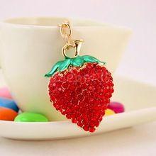 Cute Strawberry Keychain Keyring Car Key Bag Purse Decor Charm Ornament Gift ACCS(China (Mainland))