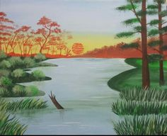 """African Safari"" Acrylic Painting by: Wajeeha Zaheer"