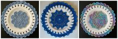 Great Tutorial to Make These Beautiful Crochet Embellished Plates