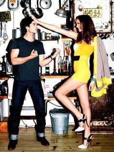Ian Somerhalder x Nina Dobrev  ~ Glamour Magazine USA April (Manip)