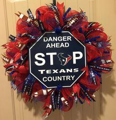 Houston Texans Football Wreath