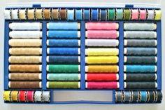 Juego de 64 hilos de colores (100% poliéster, apropiado para máquina de coser): Amazon.es: Hogar