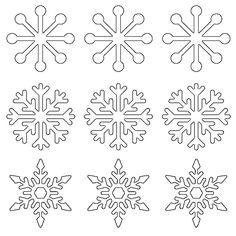 Snowflake Outline, Snowflake Stencil, Snowflake Template, Snowflake Shape, Snowflake Designs, Snowflake Pattern, Bird Stencil, Damask Stencil, Royal Icing Templates