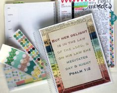 Bible Journaling and Prayer Notebook  DELUXE KIT - Colorful Frame DBJ125, Bible Journaling Notebook