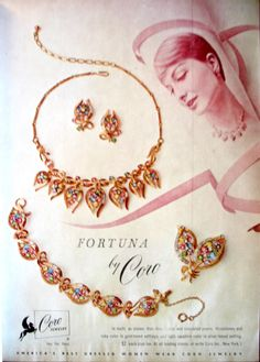 Coro Jewelry Ad Spring Vintage Early 60s