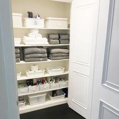 35 Best Bathroom Organization Ideas for your Dream House - Bathroom Decor - Bathroom Closet Organization, Bathroom Organisation, Closet Storage, Bathroom Storage, Organization Ideas, Cleaning Cupboard Organisation, Storage Tubs, Entryway Storage, Laundry Storage