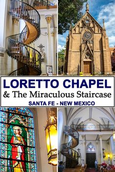 The Loretto Chapel in Santa Fe, New Mexico has become famous worldwide for it's 'miraculous' staircase; which legend says was constructed by St. Joseph the Carpenter, and was built sometime between 1877 and 1881.