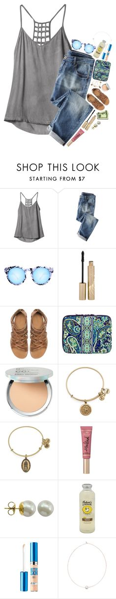 """""""I moved up a level in jazz!! """" by erinlmarkel ❤ liked on Polyvore featuring RVCA, Quay, Stila, Zara, Vera Bradley, It Cosmetics, Alex and Ani, Too Faced Cosmetics, Majorica and Maybelline"""