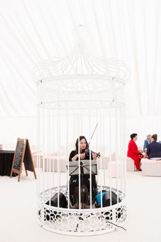 Our High Wide Hand Made Bird Cage, Ideal as a reception piece - Why not add a musician for a great talking point! Bird Cage, Event Decor, Hanging Chair, Canopy, Toddler Bed, Centerpieces, Reception, Pure Products, Handmade