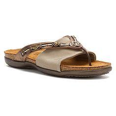 Naot   Jennifer- Brass:    You'll love slipping into the Naot Jennifer sandal, like jewelry for your feet.