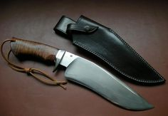Sam Lurquin Blackout Bowie Knife.